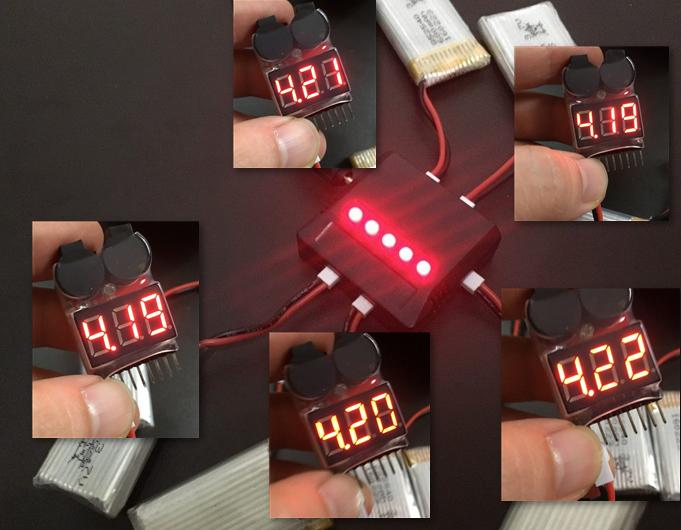 リポバッテリー 電圧チェック