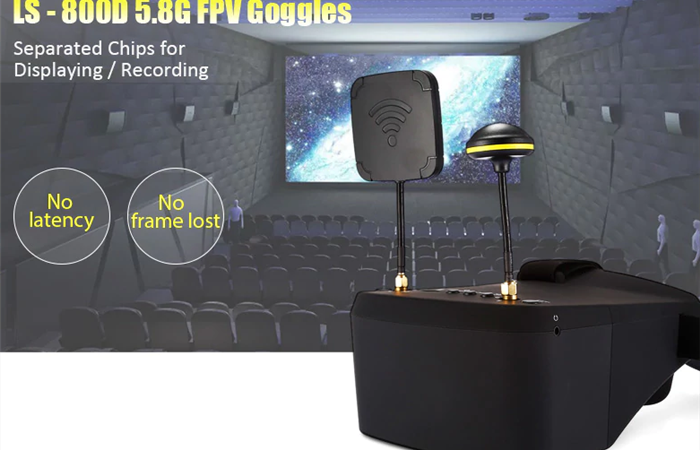 LS-800D 5.8G FPVゴーグル ノイズなしで映像が綺麗で大満足