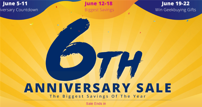 geekbuying 6th ANNIVERSARY SALE ピックアップドローン