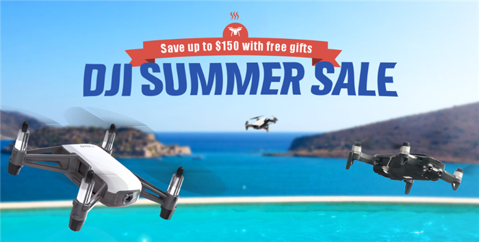 Geekbuying DJI Summer Sale DJIドローンが最大150$OFF!