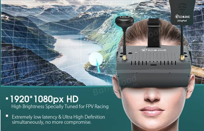 Eachine EV900 テレビや映画も見れるHDMI対応FPVゴーグル