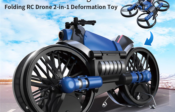 バイクになるドローン!?HHD H6 Motorcycle Folding RC Drone